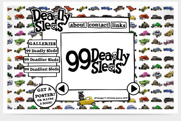 deadlysleds.com screen shot